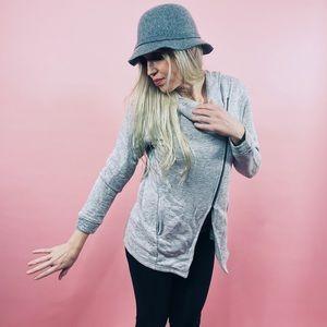 KUT From The Kloth Gray Zipup Hoodie Sweatshirt